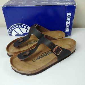 NWT Birkenstock Gizeh Leather Sandals Germany